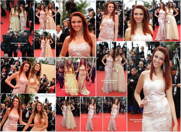 16/05 Notre belle Delphine a monté les marches du festival de Cannes en compagnie de Laury Thilleman!
