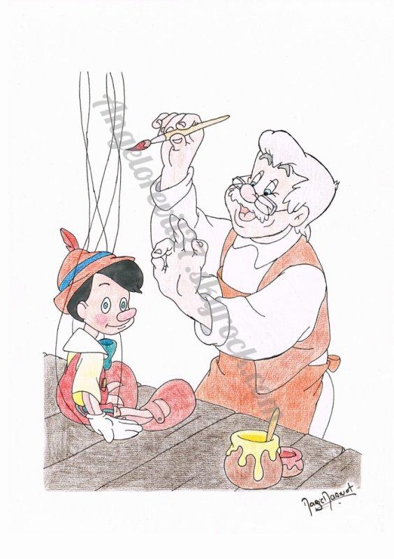 Disney - pinocchio & Geppetto