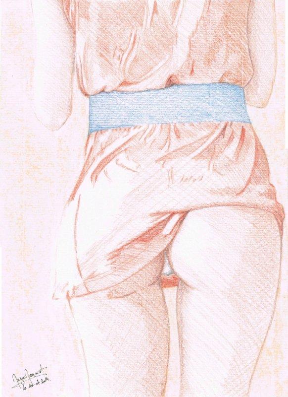 Dévoillage - dessin réaliste - Format 24x32 cm - Couleurs & Pastel