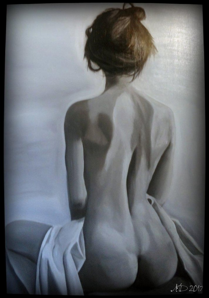Back sitting – Oil painting