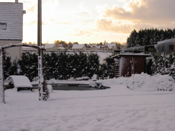 journée sous la neige