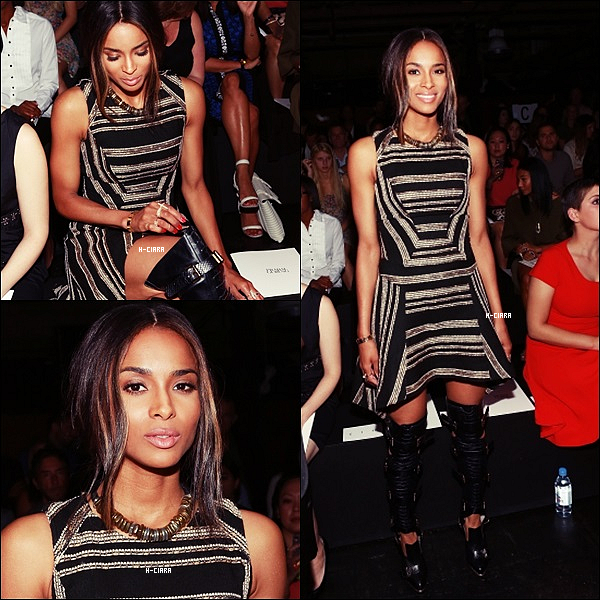 - 07.09.2013: Ciara a assister a la Fashion Week de Prabal Gurunga à New York. -
