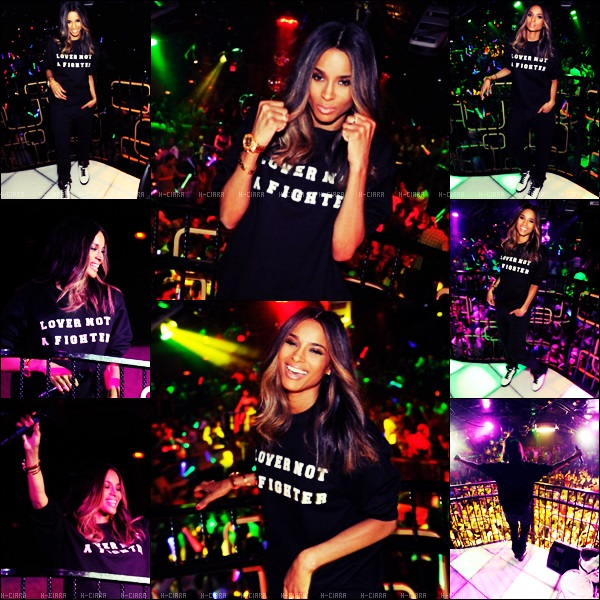 - 16.08.2013: La nuit derniere Ciara a chanter au Bank Nightclub au Bellagio à Las Vegas  -