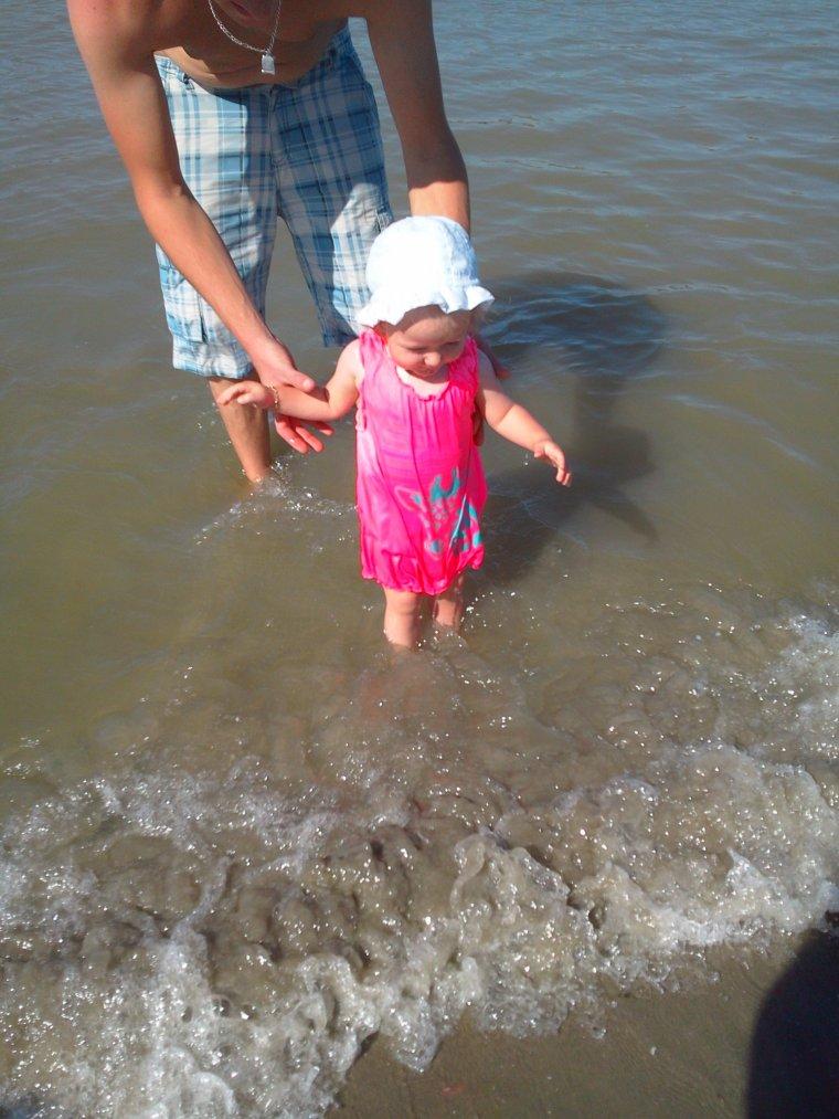Ma chérie à la mer