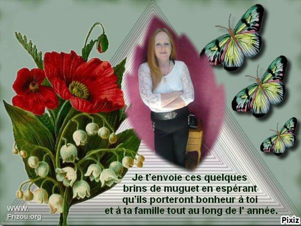 """Très beau porte bonheur de mon amie Véronique du blog """" cristal57"""" !!!"""