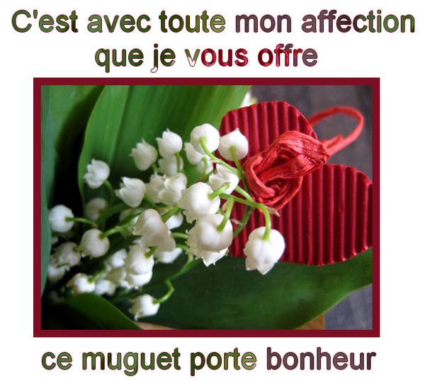 Je vous souhaites a toutes et tous un joyeux 1 er Mai, de chance, de la joie et beaucoup de bonheur !!!!
