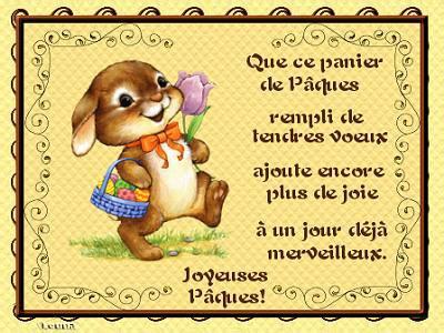 Joyeuses fêtes de Pâques a tous, que du bonheur pour vous en ce jour de fête !!!
