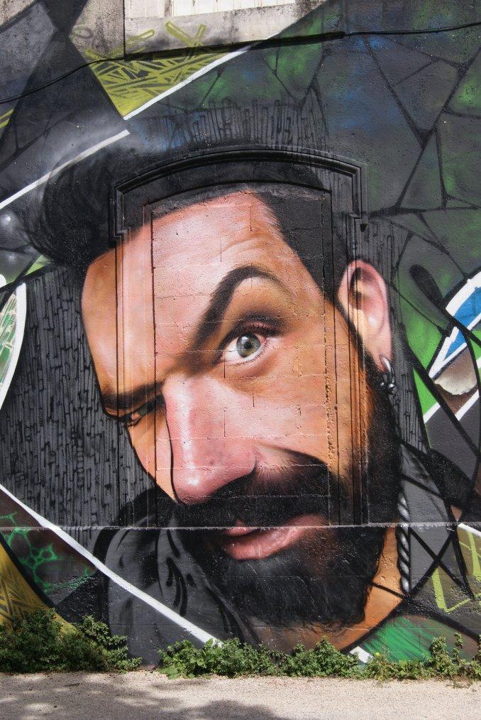 L'arts de la rue, très beau tags et trompe l'oeil, photos prise par ma fille a la Rochelle !!!