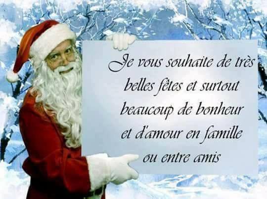 Je vous souhaite de bonnes fêtes de Noël à tous, gros bisous du (l)