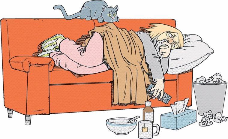 K.O par la grippe pffff !!!!