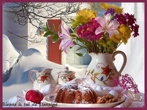 """Très touchant ce cadeau de mon amie Edith du blog """" fleurine67 """"!!! Merci a toi ma belle amie, comme tu le vois je suis revenue parmi vous, gros bisous a toi !!!"""