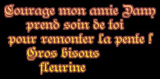 """Ah la la que dire a de tel message .....moi ça me touche toutes ces marques d'affections merci ma belle amie Edith du blog """" fleurine67 """" gros bisous a toi"""