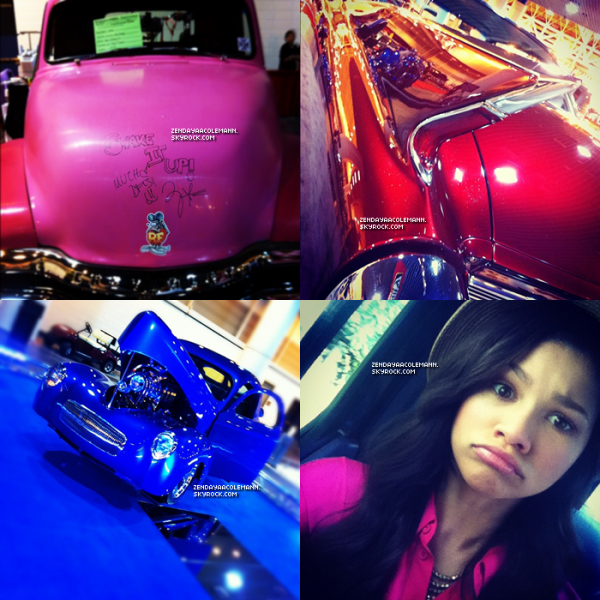 Voici quelques photos que Zendaya a posté ce week-end sur twitter .