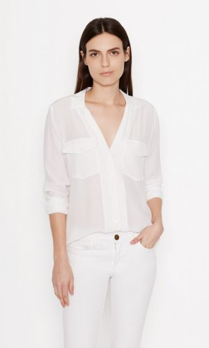 EQUIPMENT ANSLEY SILK SHIRT BRIGHT WHITE