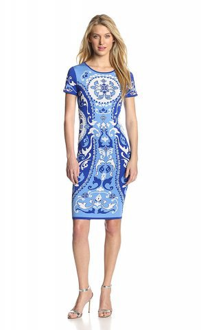 Emilio Pucci Electric Blue Print Mini Dress