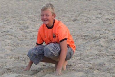 moi dans le sable à la mer