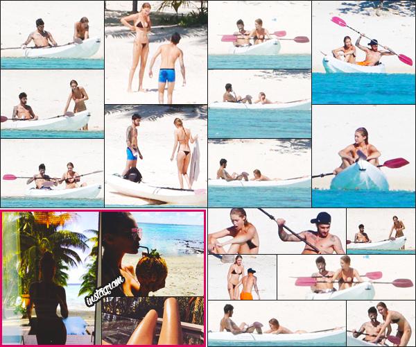 . — Gigi H. à été photographiée avec Zayn Malik, pendant leurs vacances à Tahiti !      .