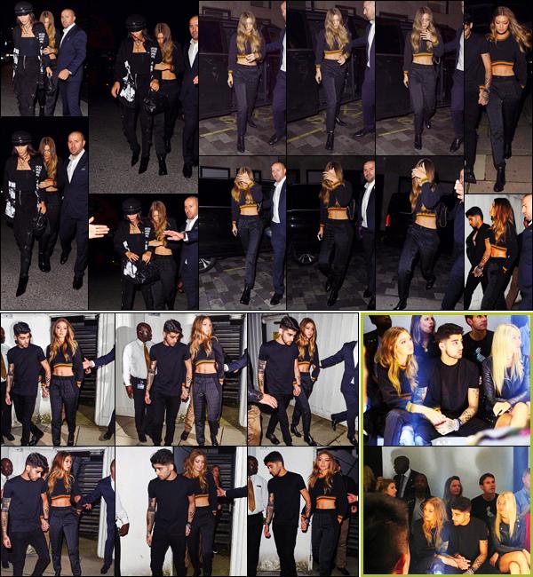 . 17/09/2016: G. à été photographiée en compagnie de son chéri à l'occasion du défilé Versus Versace à Londres !       La London Fashion Week a commencé le 15 septembre. Une collection rebelle, militaire et solaire que Gigi et son chéri, ont eu la chance de découvrir. .