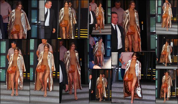 . 21/09/2016 : Gigi H.  à été photographiée alors qu'elle se rendait dans la boutique Max Mara à Milan ─  en Italie !       Dans les rues de Milan, GH a été attaquée par un fan et elle ne s'est pas laissée faire ! Elle a très vite éloigné d'elle le fan en question. Un top for Gigi.  .