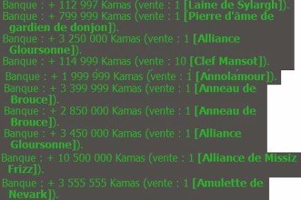Rapport de semaine 14 : des kamas, puis un peu d'xp, et re des kamas, puis plus de kamas...