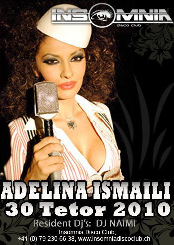 Adelina Ismaili me 30 Tetor 2010 në Insomnia (Zvicerr)