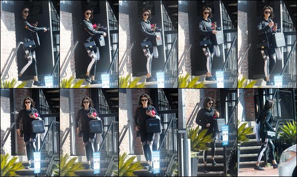 . .26/02/18.─Ninaa été photographiée alors qu'elle était en train de quitter un cours de gymà Los Angeles. Bien évidemment, notre belle Nina était en tenue de sport. J'aime beaucoup cette tenue, elle lui va très bien. C'est un TOP pour la miss. .