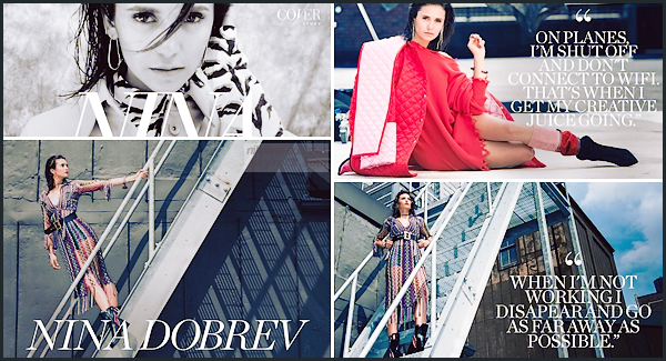 . -PHOTOSHOOT- ▬ Découvrez un tout nouveau photoshoot de Nina Dobrev pour le site web Coveteur, septembre 2018 :