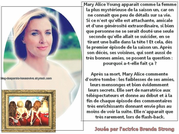 Le personnage de Mary-Alice Young