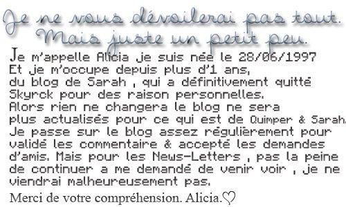 Bon a Savoir! :-) ♥