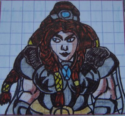Morga Melnisdottir (aussi appelé Kroum) - naine barbare