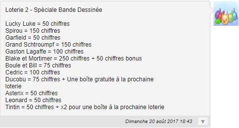 Loterie Spéciale Bande Dessinée - Semaine 2