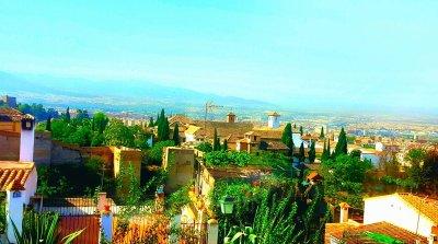 Den historiska staden Granada