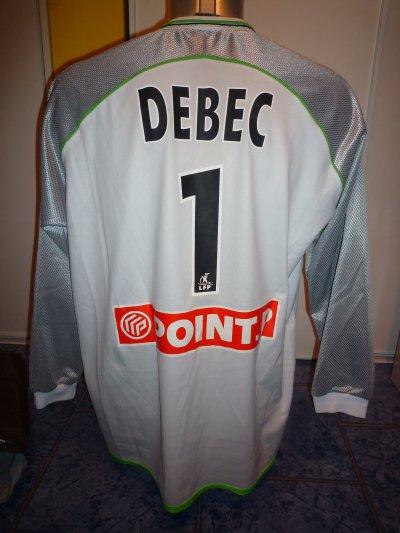 Maillot ASSE porté par Fabien DEBEC Coupe de la Ligue