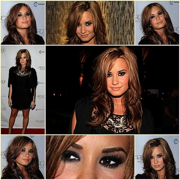29/09/10 - Demi était à « The Autumn Party » présenté par la boutique ARCADE au London Hotel.