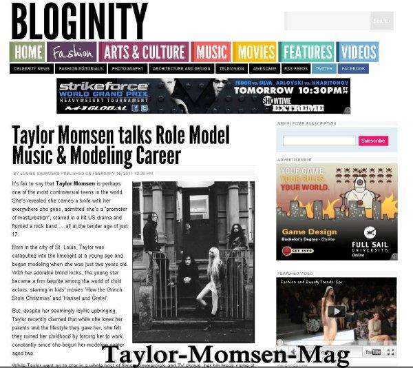 Taylor Momsen interrogés par Bloginity