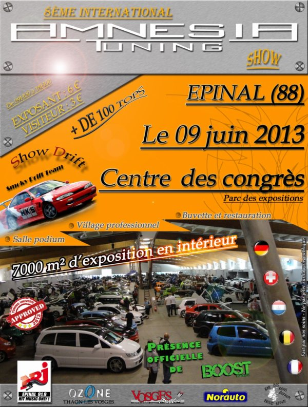 8ème INTERNATIONAL AMNESIA TUNING SHOW le 9 juin 2013!!!