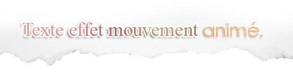 PHOTOSHOP - Effet mouvement animé sur texte.