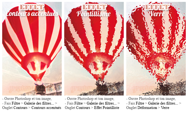 PHOTOSHOP - 6 effets de filtres