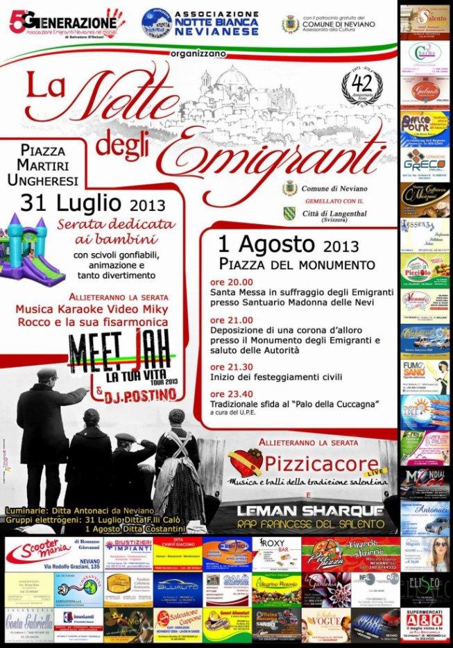 01.08.2013 LEMAN SHARQUE LIVE SHOW @ La Notte degli Emigranti (Neviano/LECCE)