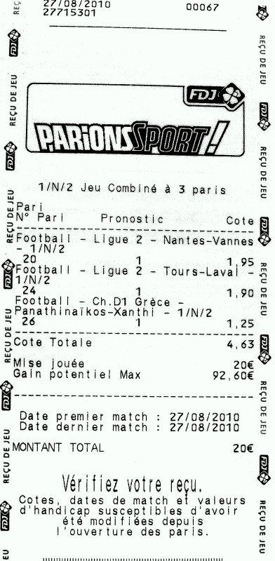 vendredi 27/08/2010 - FRANCE - Ligue 2