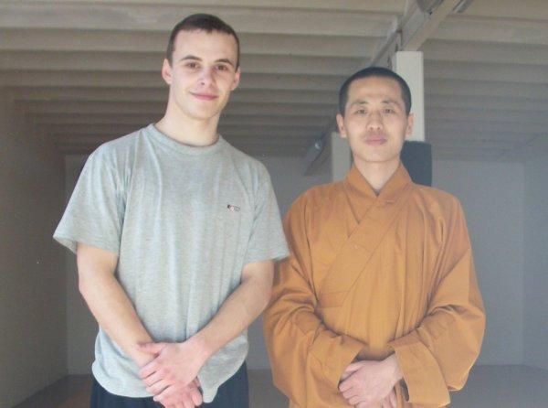 Maitre Shi Yan Jun et moi