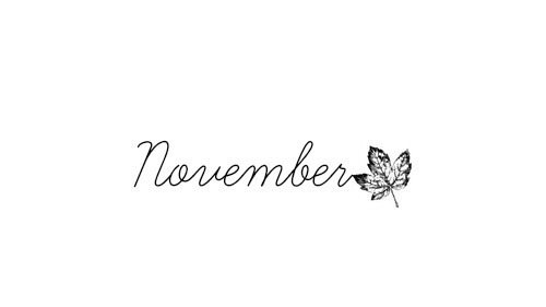Novembre !