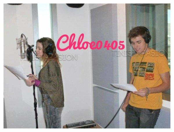 Tini y Jorge en train d'enregistrer une chanson !!