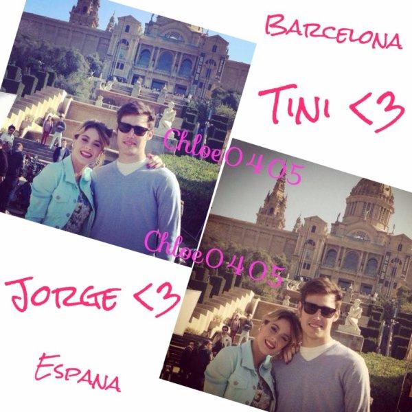 Tini et Jorge en Espagne !! ❤