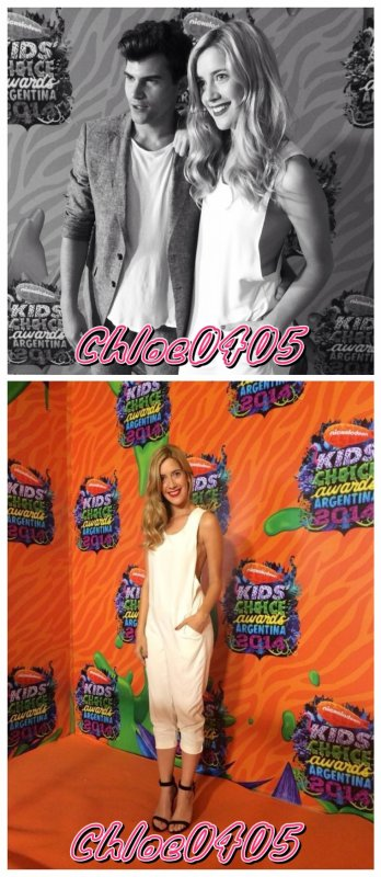 Diego et Clara hier aux Kids Choice Awards Argentina !!❤