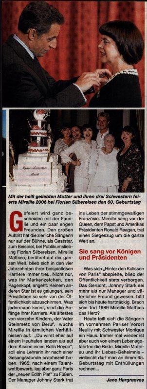 Zeitschrift 7 Tage      Zum 65. Geburtstag von Mireille