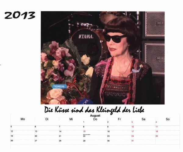 Kalender Mireille Mathieu    August 2013