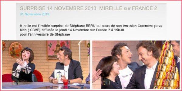 Mireille im französischen Fernsehen