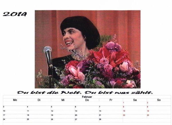 Mireille Kalender    Februar 2014