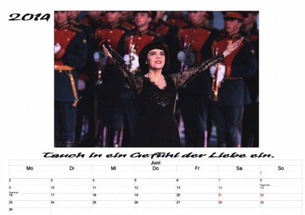 Kalender Mireille Mathieu   Juni 2014